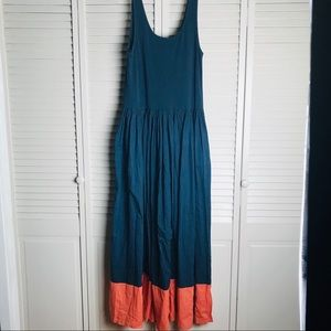 French Connection colorblock cotton maxi dress.